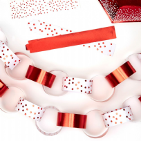 Merry Christmas Red & White Paper Chains (50)